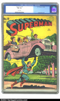 Golden Age (1938-1955):Superhero, Superman #19 (DC, 1942) CGC FN+ 6.5 White pages. The unmistakable style of Jack Burnley graced the covers of 14 early issues...