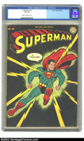 Golden Age (1938-1955):Superhero, Superman #32 (DC, 1945) CGC VF 8.0 Cream to off-white pages. One has to look closely, front and back, to figure out why this...