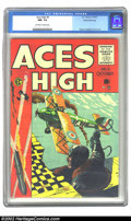 Golden Age (1938-1955):Adventure, Aces High #4 Gaines File pedigree 12/12 (EC, 1955) CGC NM- 9.2 Off-white to white pages. EC's New Direction titles really we...