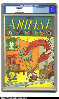 Animal Fables #4 (EC, 1947) CGC VF/NM 9.0 Off-white pages. You would think that this is a Timely, not an EC, with the Hu...