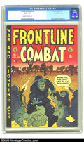 Golden Age (1938-1955):War, Frontline Combat #6 Gaines File pedigree 6/9 (EC, 1952) CGC NM+ 9.6Off-white to white pages. It's easy to get lost in this ...