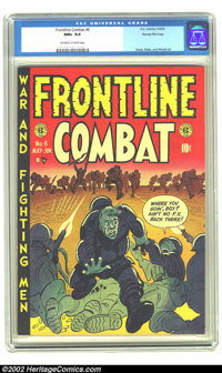 Frontline Combat #6 Gaines File pedigree 6/9 (EC, 1952) CGC NM+ 9.6 Off-white to white pages. It's easy to get lost in t...