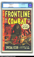 Golden Age (1938-1955):War, Frontline Combat #7 Gaines File pedigree 7/10 (EC, 1952) CGC NM 9.4Off-white to white pages. Kurtzman's special Iwo Jima is...