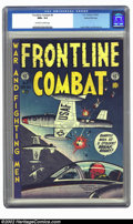 Golden Age (1938-1955):War, Frontline Combat #8 Gaines File pedigree 3/9 (EC, 1952) CGC NM+ 9.6 Off-white to white pages. Of the nine covers of this tit...