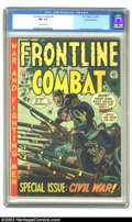 Golden Age (1938-1955):War, Frontline Combat #9 Gaines File pedigree 7/10 (EC, 1952) CGC NM 9.4Off-white pages. Kurtzman devoted this issue to the Civi...