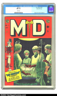 M.D. #1 Gaines File pedigree 12/12 (EC, 1955) CGC NM 9.4 White pages. Here is another beautiful Gaines file copy in Near...