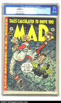 Golden Age (1938-1955):Humor, Mad #2 (EC, 1952) CGC VF/NM 9.0 Cream to off-white pages. Jack Davis easily bounced from horror to comic themes, here crammi...