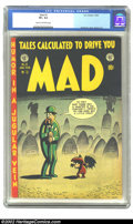 Golden Age (1938-1955):Humor, Mad #3 (EC, 1953) CGC VF+ 8.5 Cream to off-white pages. This is a very presentable copy of Kurtzman's satirical comic, Mad...
