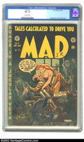 Golden Age (1938-1955):Humor, Mad #5 (EC, 1953) CGC FN- 5.5 Off-white pages. This issue is notoriously scarce due to its limited distribution. Biography o...