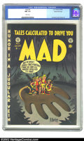 Golden Age (1938-1955):Humor, Mad #6 Gaines File pedigree 3/12 (EC, 1953) CGC NM 9.4 White pages. Wow, can you say Near Mint with white pages? And a Gaine...