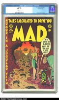 Golden Age (1938-1955):Humor, Mad #8 Gaines File pedigree 5/12 (EC, 1953) CGC NM- 9.2 White pages. The earliest issues of the title were goofy beyond anyt...