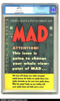 Golden Age (1938-1955):Humor, Mad #17 Gaines File pedigree 3/12 (EC, 1954) CGC NM+ 9.6 Off-white to white pages. Although creating a genre of its own, M...