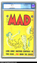 Golden Age (1938-1955):Humor, Mad #18 Gaines File pedigree Certificate Missing (EC, 1954) CGC NM- 9.2 Off-white pages. One of the more unusual among the u...