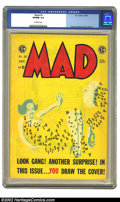 Golden Age (1938-1955):Humor, Mad #18 (EC, 1954) CGC VF/NM 9.0 Off-white pages. Great Kurtzman do-it-yourself cover. Flat, clean copy, with brilliant cove...