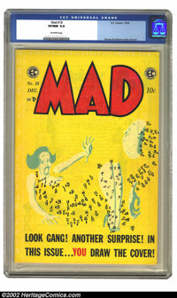 Mad #18 (EC, 1954) CGC VF/NM 9.0 Off-white pages. Great Kurtzman do-it-yourself cover. Flat, clean copy, with brilliant...