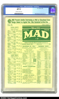 Mad #19 (EC, 1955) CGC NM 9.4 Off-white to white pages. Just in time for the 50th anniversary of Mad, we have an incredi...