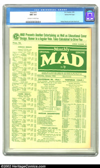 Mad #19 Gaines File pedigree 3/9 (EC, 1955) CGC NM 9.4 Off-white to white pages. This issue, with its predominantly whit...