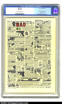 Mad #21 (EC, 1955) CGC VF 8.0 Off-white to white pages. Significant among Mad collectors, this book features the first a...