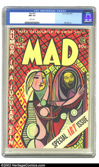 Mad #22 (EC, 1955) CGC NM 9.4 White pages. Kept in a cedar chest since first purchased, this book has remained in Near M...