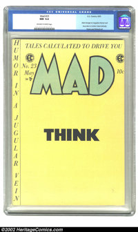 Mad #23 (EC, 1955) CGC NM 9.4 Off-white to white pages. This is the very last Mad comic, but, don't cry, they brought it...