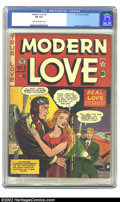 Golden Age (1938-1955):Romance, Modern Love #2 (EC, 1949) CGC FN 6.0 Cream to off-white pages. ECeven did the romance genre the right way, even though they...