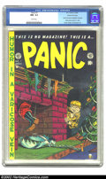 Golden Age (1938-1955):Humor, Panic #1 Gaines File pedigree 10/12 (EC, 1958) CGC NM- 9.2 White pages. This seminal issue was used in Senate Investigation ...
