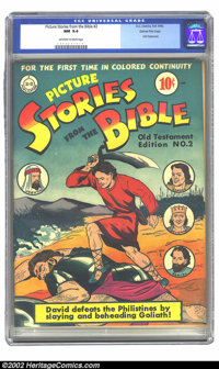 Picture Stories from the Bible #2 (Old Testament) Gaines File pedigree 4/12 (DC, 1942) CGC NM 9.4 Off-white to white pag...