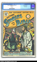 Golden Age (1938-1955):Religious, Picture Stories from the Bible #3 (New Testament) Gaines Filepedigree Certificate Missing (EC, 1946) CGC NM 9.4 Off-white pag...
