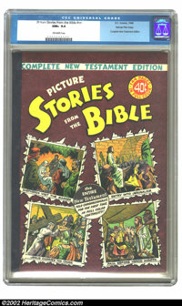 Picture Stories from the Bible (Complete New Testament) Gaines File pedigree 4/12 (EC, 1946) CGC NM+ 9.6 Off-white pages...