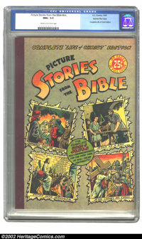 Picture Stories from the Bible (Complete Life of Christ) Gaines File pedigree 4/12 (EC, 1944) CGC NM+ 9.6 Cream to off-w...