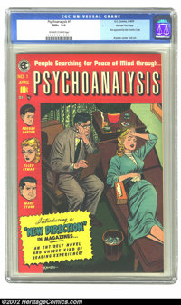 Psychoanalysis #1 Gaines File pedigree 1/12 (EC, 1955) CGC NM+ 9.6 Off-white to white pages. This Gaines file copy was d...