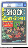 Golden Age (1938-1955):Horror, Shock SuspenStories #1 Gaines File pedigree 8/12 (EC, 1952) CGCNM/MT 9.8 Off-white to white pages. Al Feldstein's electrocu...