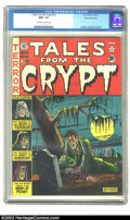 Golden Age (1938-1955):Horror, Tales From the Crypt #22 Gaines File pedigree 1/10 (EC, 1951) CGCNM+ 9.6 Off-white to white pages. The undead zombie pulls ...