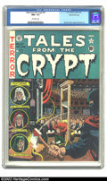 Golden Age (1938-1955):Horror, Tales From the Crypt #27 Gaines File pedigree 1/12 (EC, 1951) CGCNM+ 9.6 Off-white pages. Wally Wood's executioner cover ha...