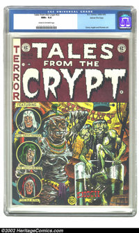 Tales From the Crypt #33 Gaines File pedigree 1/12 (EC, 1952) CGC NM+ 9.6 Cream to off-white pages. Meet the Crypt Keepe...