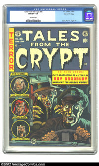 Tales From the Crypt #36 Gaines File pedigree 1/10 (EC, 1953) CGC NM/MT 9.8 Off-white pages. William Gaines only kept te...