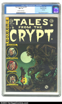 Tales From the Crypt #46 Gaines File pedigree 1/11 (EC, 1955) CGC NM- 9.2 Off-white to white pages. This fantastic werew...