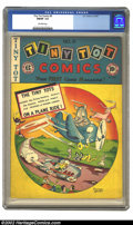 Golden Age (1938-1955):Funny Animal, Tiny Tot Comics #9 (EC, 1947) CGC FN/VF 7.0 Off-white pages. Wherecan you find a flying elephant and donkey, in a plane, ra...