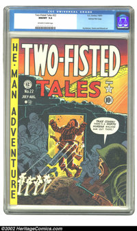 Two-Fisted Tales #22 Gaines File pedigree 7/10 (EC, 1951) CGC NM/MT 9.8 Off-white to white pages. If we thought we had s...
