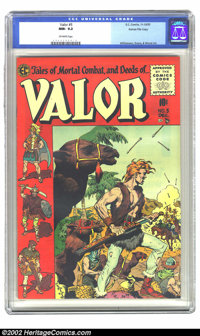 Valor #5 Gaines File pedigree 5/12 (EC, 1955) CGC NM- 9.2 Off-white pages. With cover art by Wood, and interior pictures...
