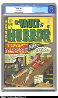 Vault of Horror #12 (EC, 1950) CGC VF/NM 9.0 Cream to off-white pages. Caught between lusting after a high-grade copy of...