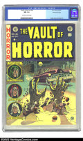 Golden Age (1938-1955):Horror, Vault of Horror #26 Gaines File pedigree Certificate Missing (EC,1952) CGC NM 9.4 Off-white to white pages. The dead and de...