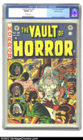 Golden Age (1938-1955):Horror, Vault of Horror #28 Gaines File pedigree 9/12 (EC, 1952) CGC NM/MT9.8 Off-white pages. Graham Ingels and George Evans, amon...