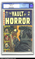 Golden Age (1938-1955):Horror, Vault of Horror #32 Gaine File pedigree 8/11 (EC, 1953 CGC NM+ 9.6Off-white to white pages. The graphicness of EC's covers ...