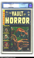 Golden Age (1938-1955):Horror, Vault of Horror #34 Gaines File pedigree 4/12 (EC, 1954) CGC NM 9.4Off-white pages. Over the course of 40 issues and two ti...