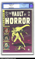 Golden Age (1938-1955):Horror, Vault of Horror #40 Gaines File pedigree 9/12 (EC, 1954) CGC NM/MT9.8 Off-white pages. This rare final issue is alway a sta...