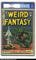 Golden Age (1938-1955):Science Fiction, Weird Fantasy #15 (EC, 1952) CGC VF/NM 9.0 Off-white pages. Findinghigh-grade copies of these fantastic EC comics, outside ...