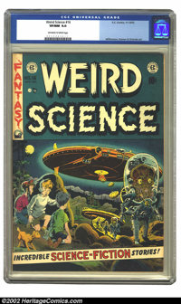 Weird Science #16 (EC, 1952) CGC VF/NM 9.0 Off-white to white pages. Wally Wood's cover for this issue of Weird Science...