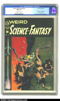 Weird Science-Fantasy #29 (EC, 1955) CGC NM- 9.2 Off-white to white pages. EC's sci-fi title would undergo a name change...