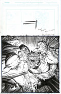 "Original Comic Art:Splash Pages, Art Adams - Original Splash Page Art for Wizard #81, ""Last ManStanding"" (Wizard Press, 1998). Who do YOU think would win in..."